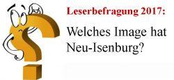 Leserbefragung Neu-Isenburg Stadtimage