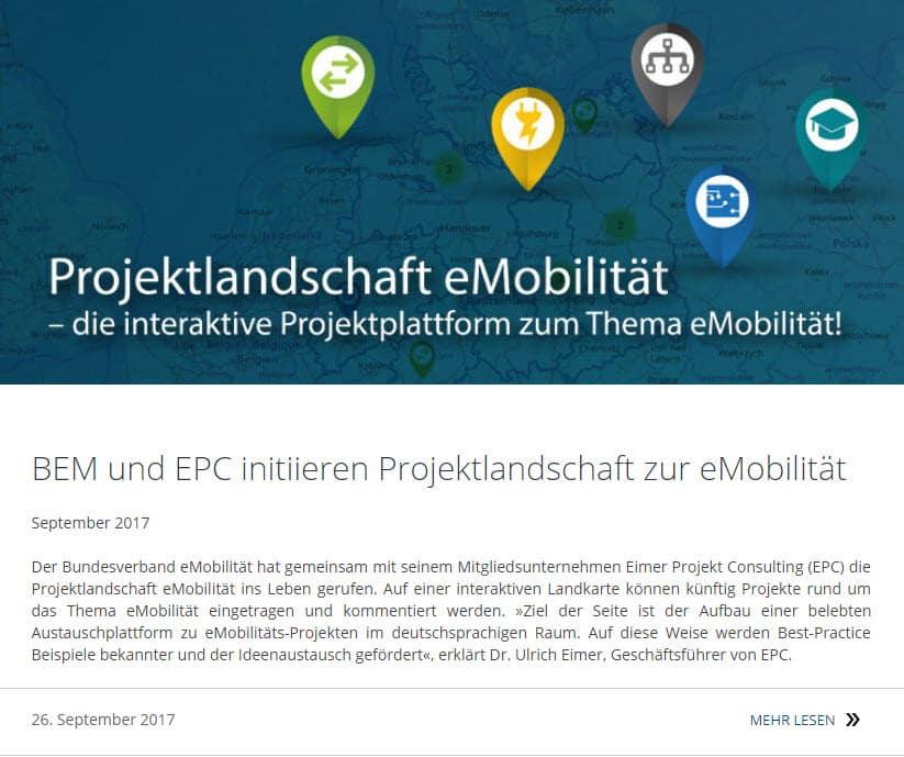 Projektlandschaft eMobilität